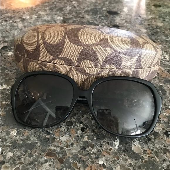dc018912ce6 Coach Accessories - Coach HC8155QF Black Silver Sunglasses